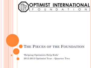 The Pieces of the Fo.. - Optimist International Foundation