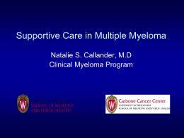 View Slide Deck - Myeloma Survivorship Conference