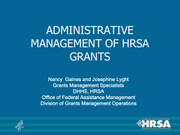 Grants Management Specialists