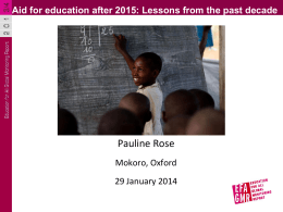 Aid for education after 2015: Lessons from the past decade
