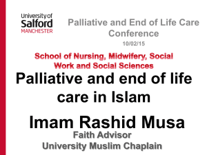 Pallative and end of life care in Islam