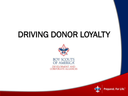 Driving Donor Loyalty