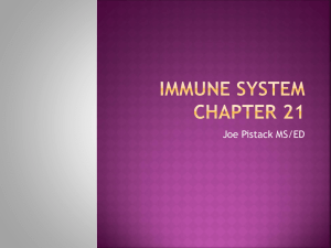 PPT21Chapter21ImmuneSystem