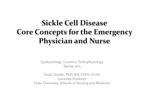 SCD - Emergency Department Sickle Cell