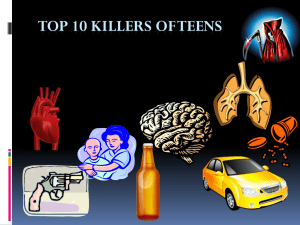 Top 10 Killers of Teens