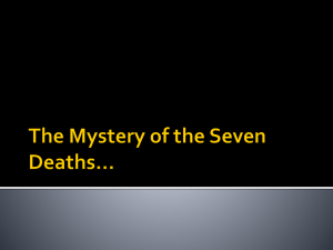 The Mystery of the Seven Deaths
