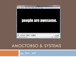 1 - AMOCTOBSO & Systems