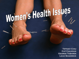 Womens Health Issues Presentation