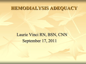 Hemodialysis Adequacy - ANNA Jersey North Chapter 126