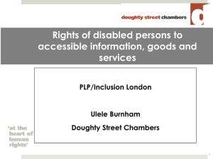 Rights of disabled persons to accessible