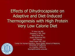 Effects of Dihydrocapsiate on Adaptive and Diet-Induced