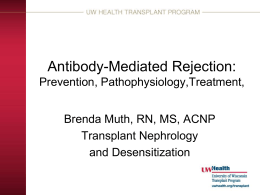 Pathophysiology, Treatment & Prevention of Antibody - wi