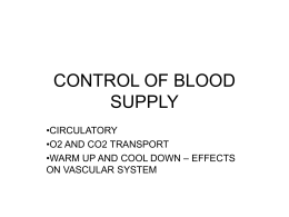 CONTROL OF BLOOD SUPPLY