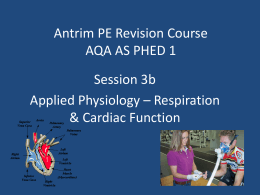 AQA PHED 1 Applied Physiology Respiration cardiac Function