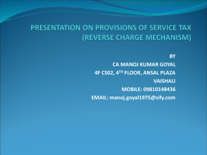 reverse Charge presentation by CA Manoj Goyal
