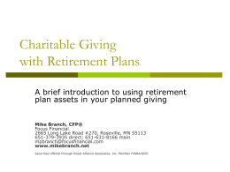 Planned Giving with Retirement Accounts