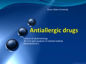 Antiallergic agents