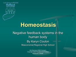 Presentation: Homeostasis - Life Sciences Outreach at Harvard