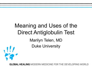 Direct Antiglobulin Test