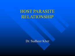 HOST PARASITE RELATIONSHIP