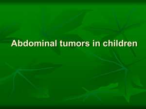 Abdominal tumors in children