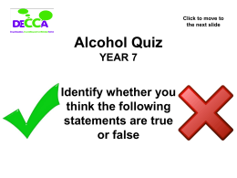 Alcohol Quiz powerpoint v3