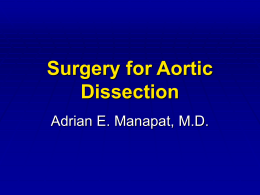 Aortic Dissection - Adrian Manapat,MD