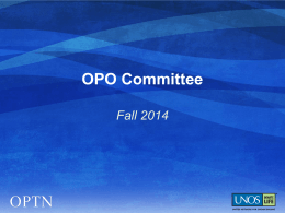 Organ Procurement Organization Committee