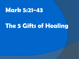 The 5 Gifts of Healing Part2 - Living Waters Methodist Church