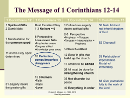 The Message of 1 Corinthians 12-14