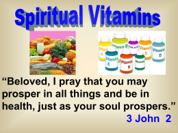 Spiritual Vitamins - Radford Church of Christ