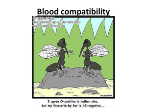 Blood compatibility