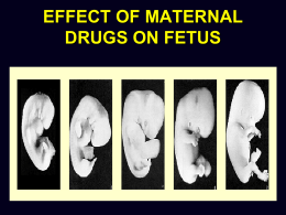 effect of maternal drugs on fetus maternity nursing