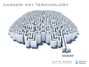 Cancer Key Terminology