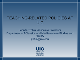 Teaching-related Policies at UIC