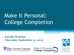 College Completion - The National Campaign | To Prevent Teen