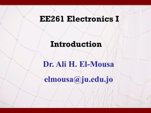 Introduction - Dr Ali El-Mousa