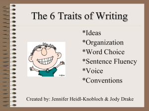 6 Traits of Writing-PowerPoint