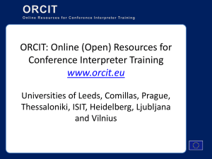 ORCIT: Online (Open) Resources for Conference Interpreter