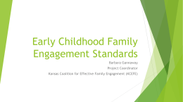 EC Family Engagement Standards - For Parents, Professionals, and