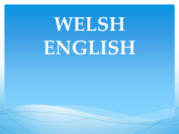 WELSH ENGLISH