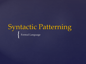 Syntactic Patterning - Unit3englishlanguageAOS2