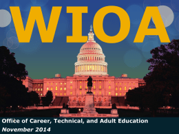 WIOA Overview Presentation - Minnesota Adult Basic Education
