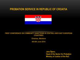Probacijska slu*ba u republici hrvatskoj