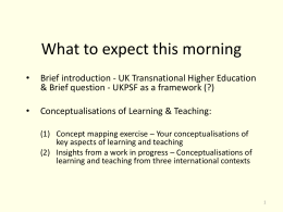 Presentation by David Killick - Higher Education Academy