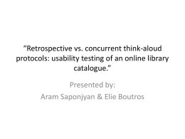 Retrospective vs. concurrent think-aloud protocols: usability testing