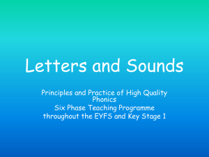 Letters and sounds 6 phases