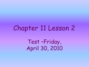 Chapter 7 Lesson 3 - Park Vista Elementary