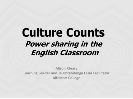 Culture Counts 1 - Much Ado About English