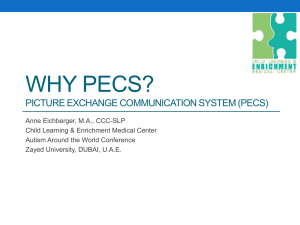 Why pecs? - Child Early Intervention Medical Center